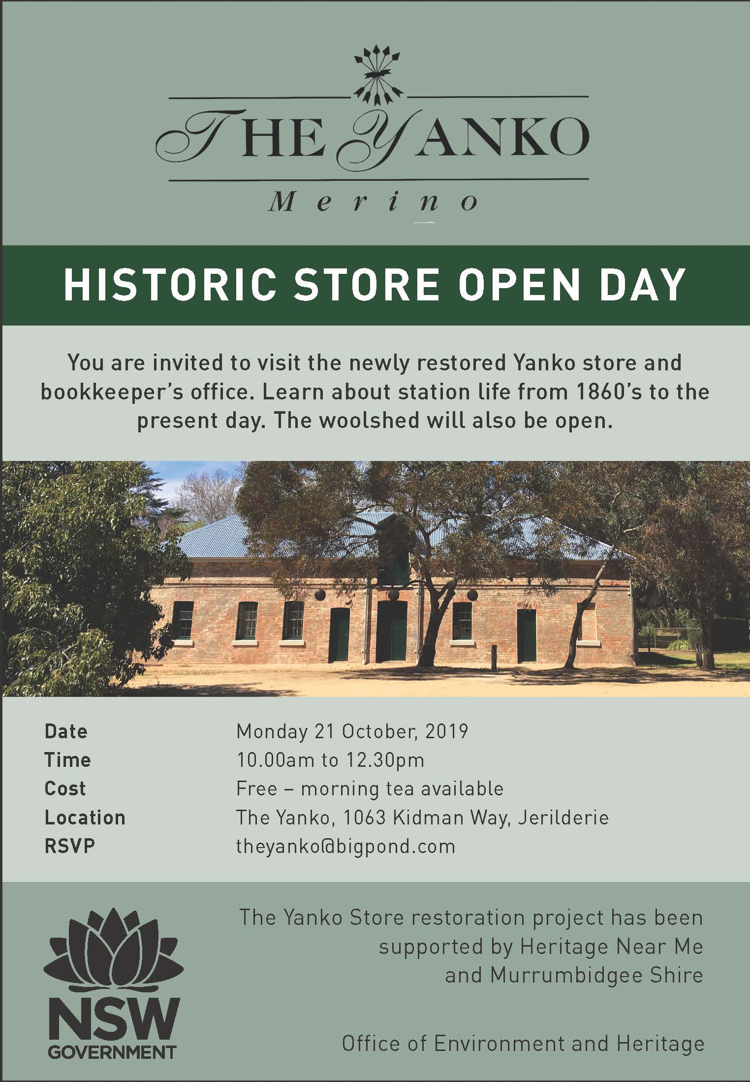 The Yanko Historic Store Open Day